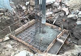 đổ bê tông móng cột nhà
